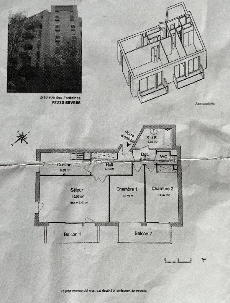 Location particulier, appartement, de 46m² à Sèvres