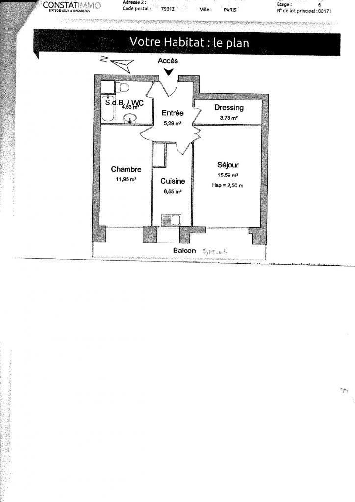 Particulier location Paris 12, appartement, de 48m²