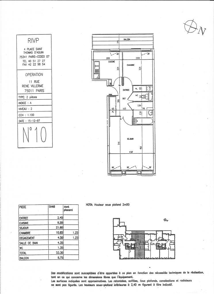 De particulier à particulier , appartement, de 54m² à Paris 11
