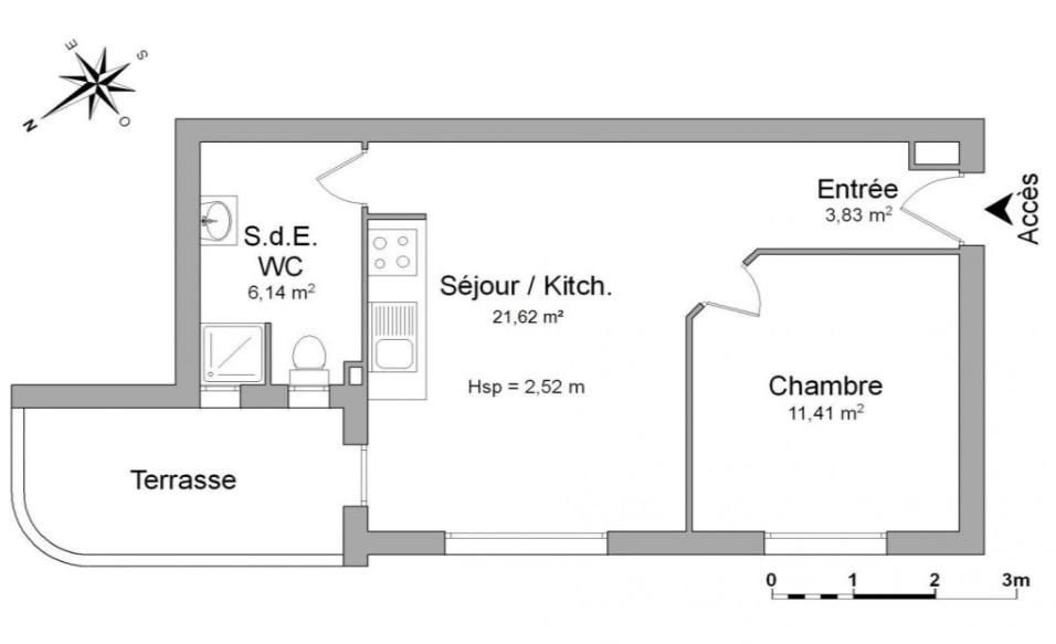 Entre particulier , appartement, de 43m² à Béziers