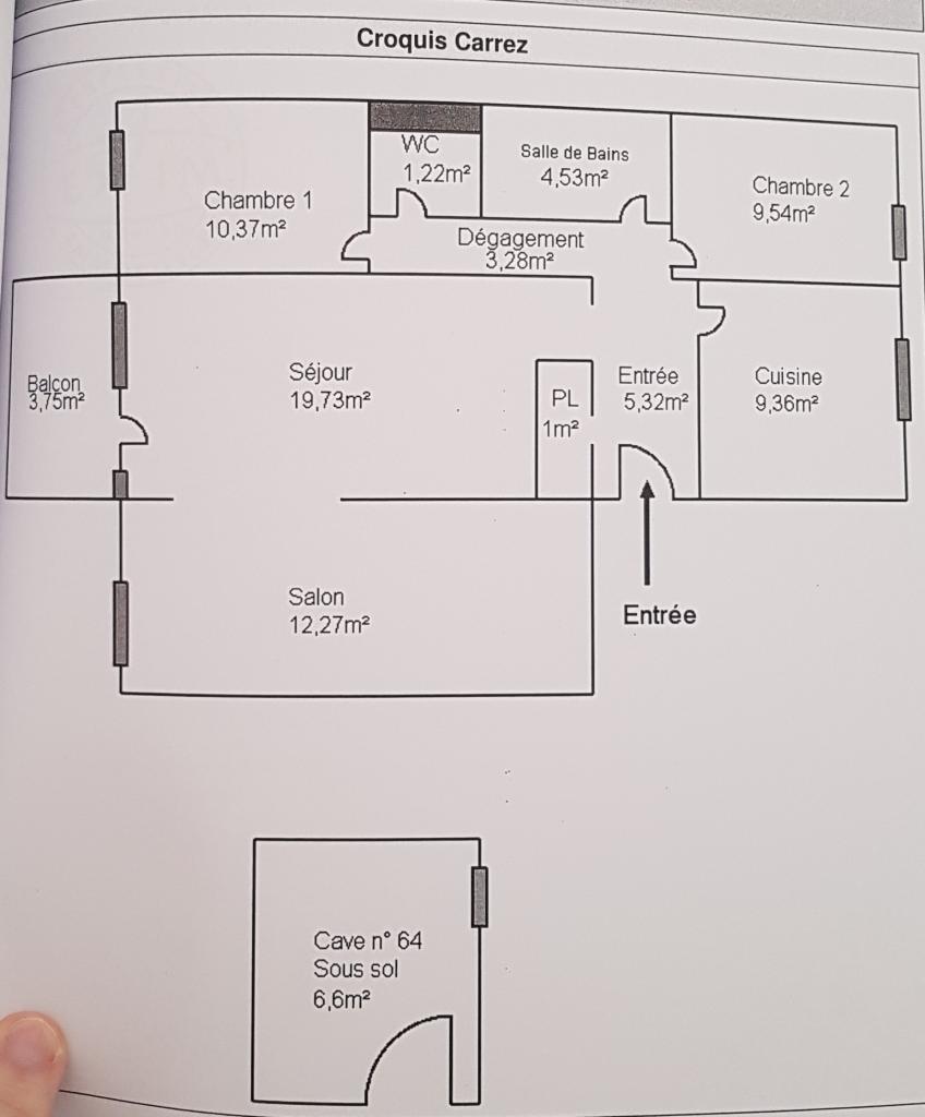 Entre particulier à Angers, appartement, de 77m² à Angers