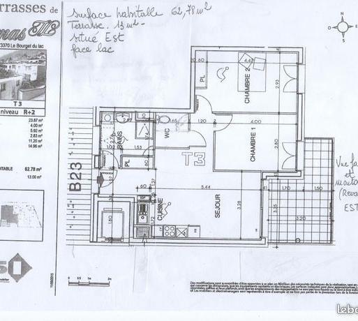 De particulier à particulier, appartement, de 76m² à La Chapelle-du-Mont-du-Chat
