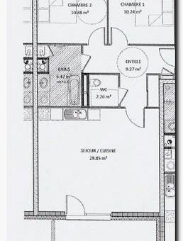 69m² pour ce joli appartement