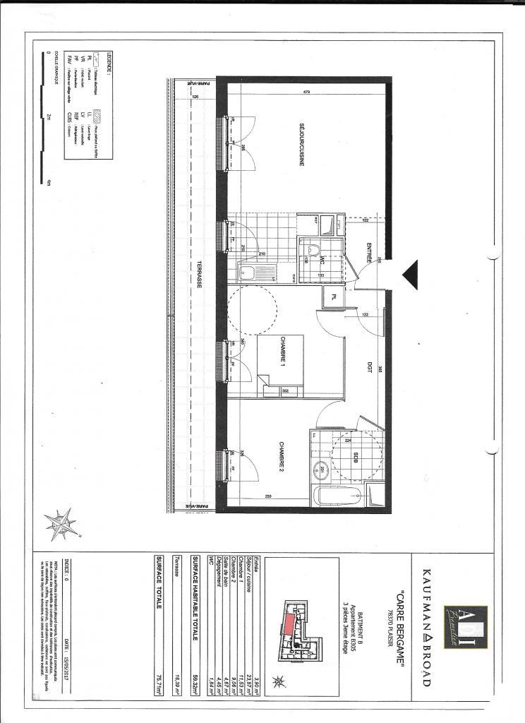 Appartement particulier à Plaisir, %type de 60m²
