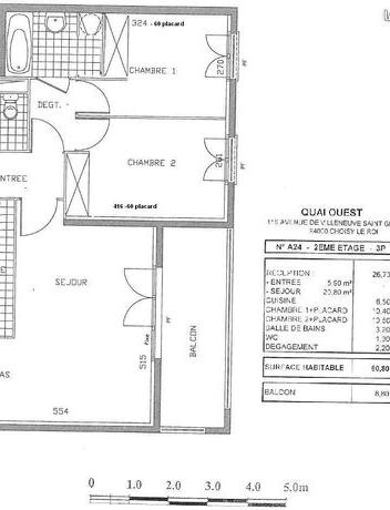 Appartement particulier à Choisy-le-Roi, %type de 61m²