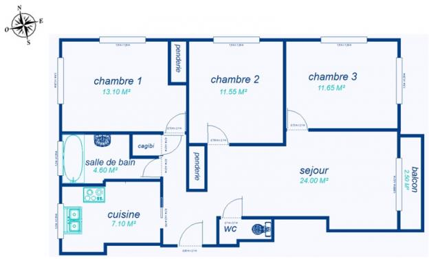 Location appartement T4 St Maur des Fosses - Photo 4