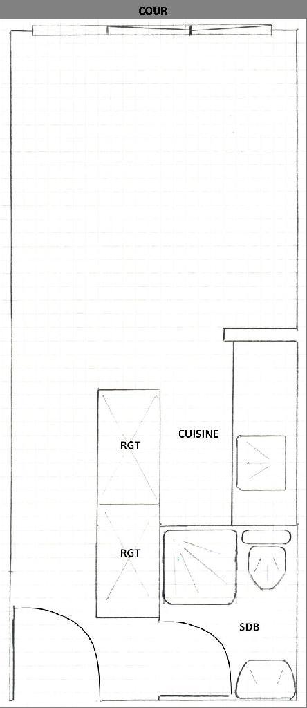 Location immobilière par particulier, Montreuil, type studio, 19m²