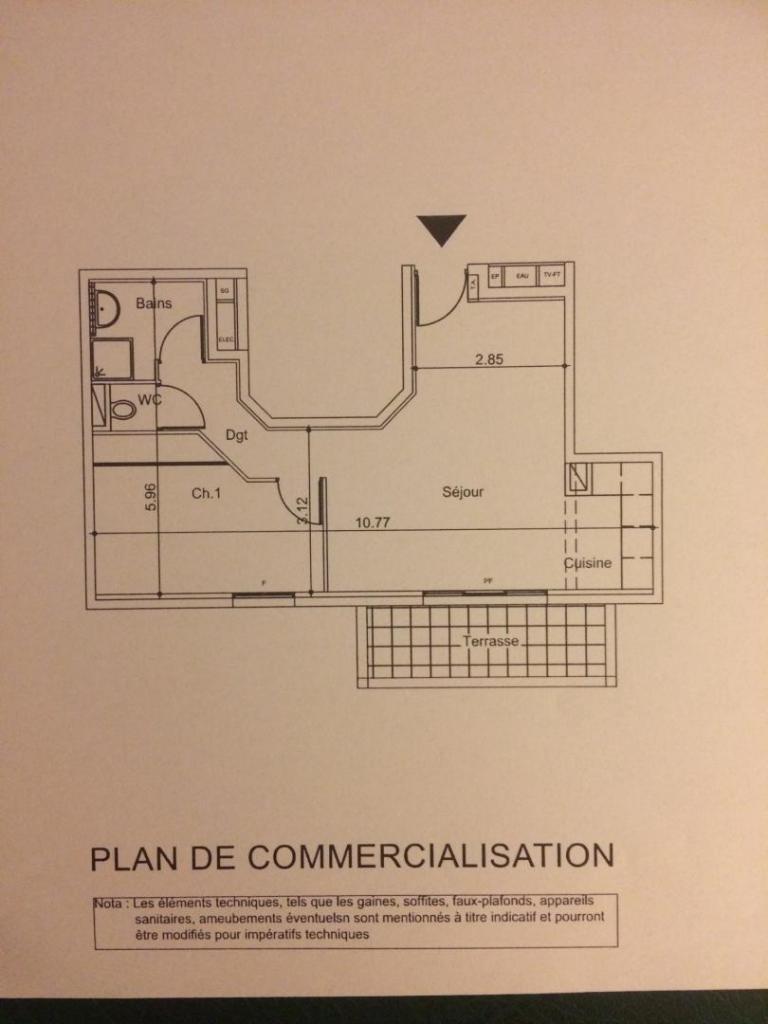 Location particulier à particulier, appartement, de 46m² à Baillargues