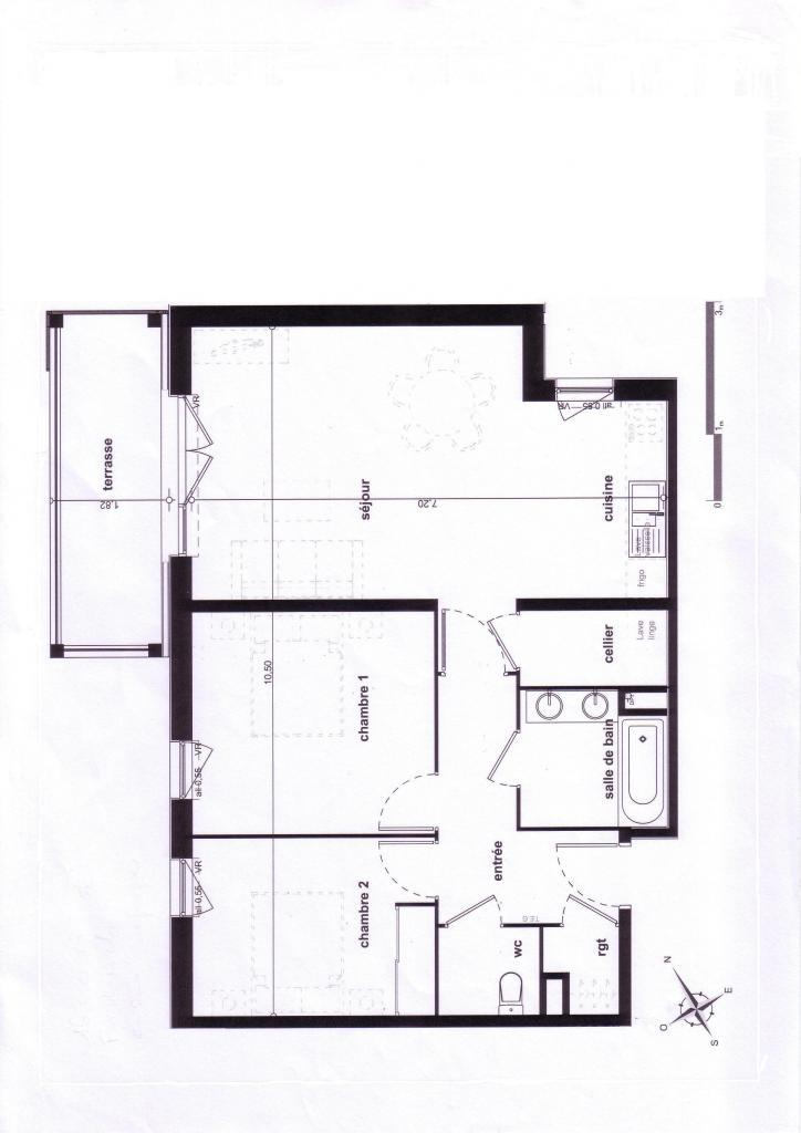 Appartement de 69m2 à louer sur Pau
