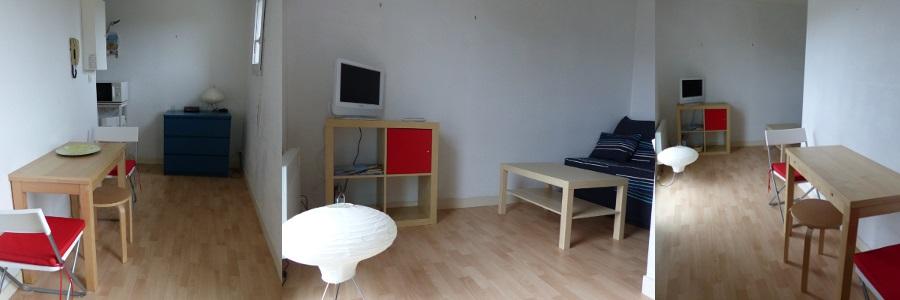 location de studio meubl sans frais d 39 agence vannes 330 19 m. Black Bedroom Furniture Sets. Home Design Ideas