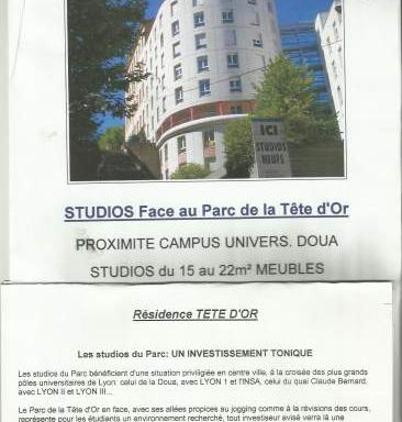 Location particulier Lyon 04, studio, de 19m²