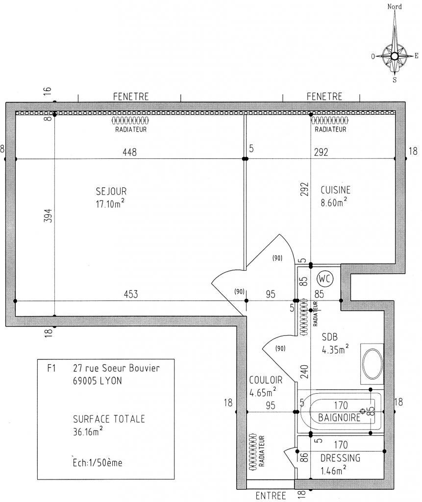 location d 39 appartement t1 entre particuliers lyon 69005 660 36 m. Black Bedroom Furniture Sets. Home Design Ideas