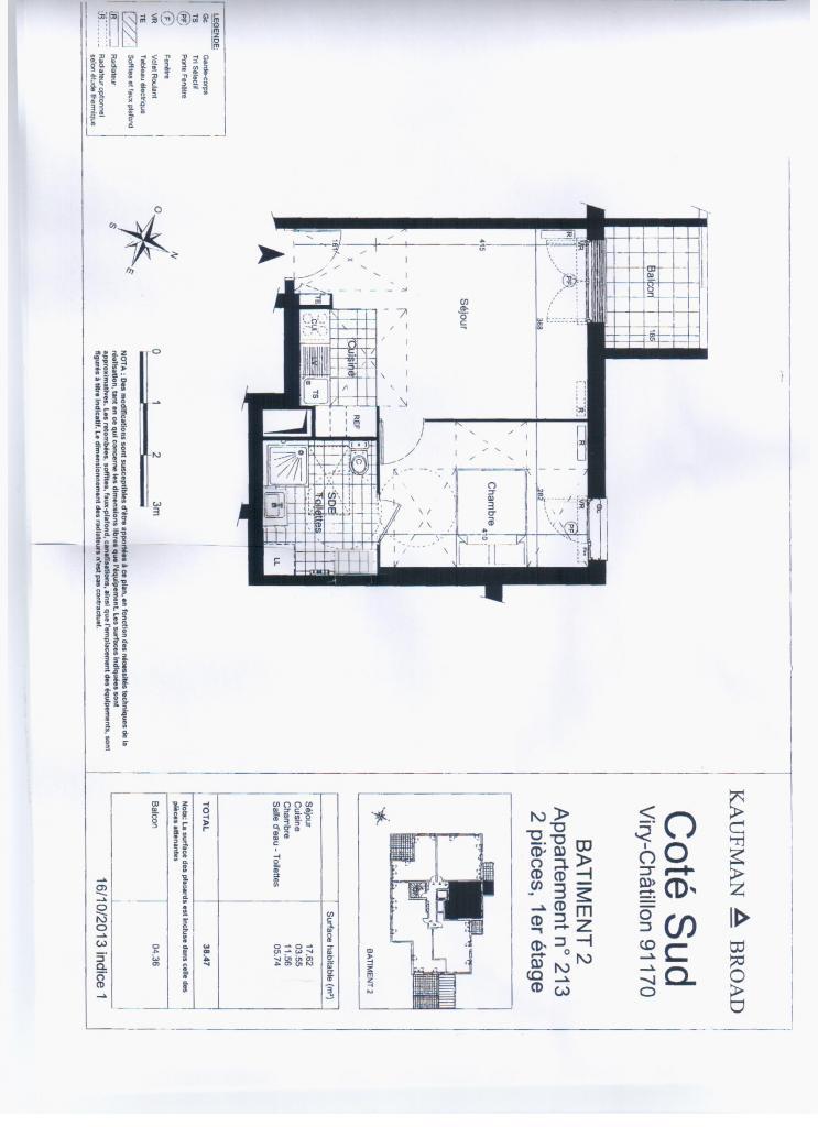 location d 39 appartement t2 de particulier viry chatillon 660 40 m. Black Bedroom Furniture Sets. Home Design Ideas