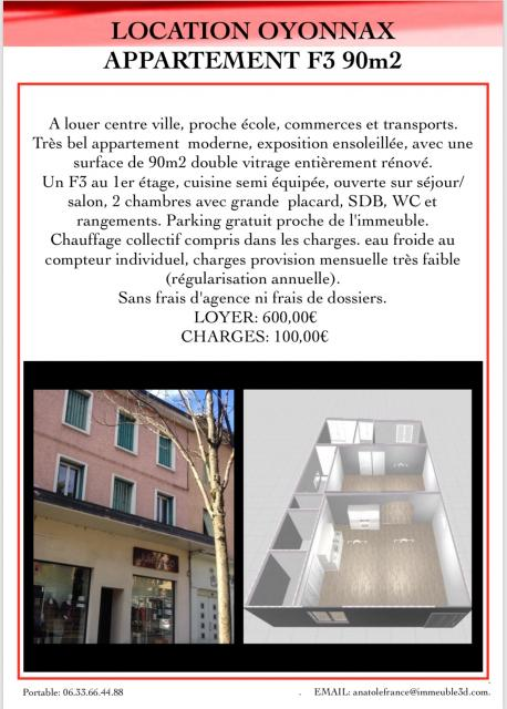 Location appartement T3 Oyonnax - Photo 1