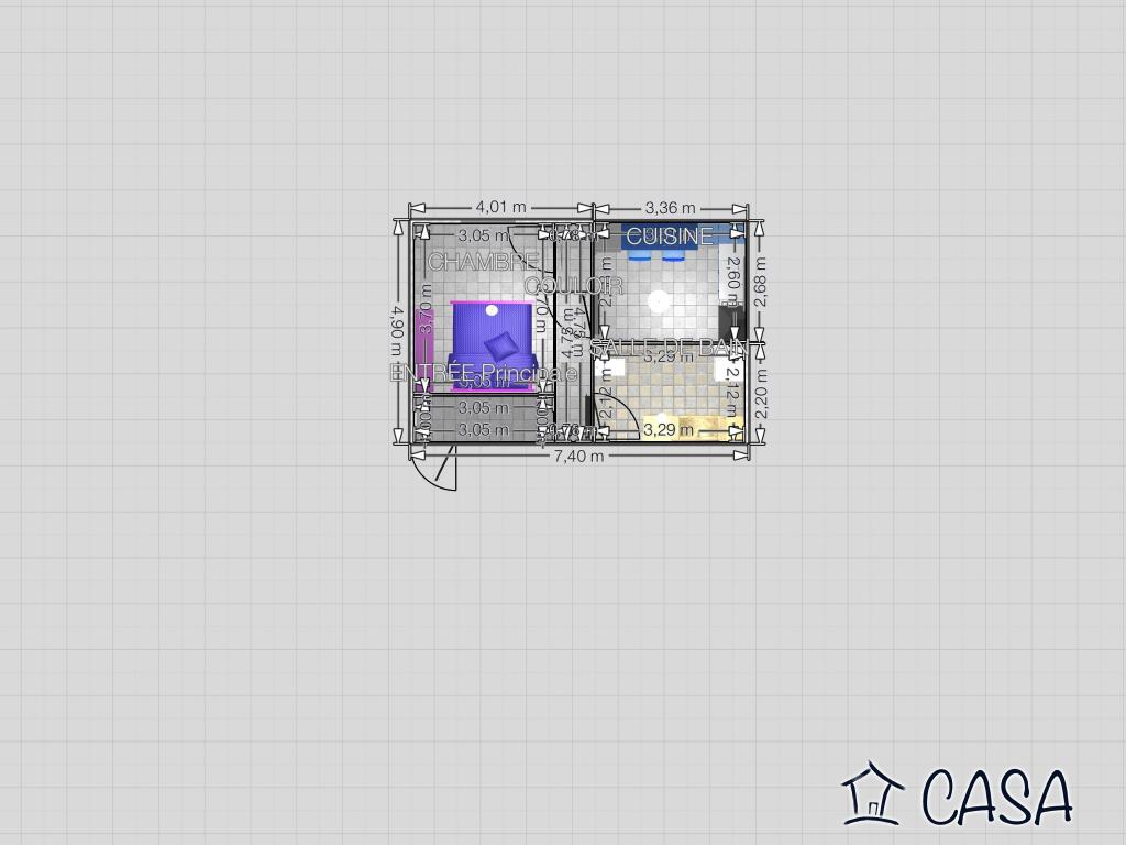 Particulier location Géovreisset, appartement, de 45m²
