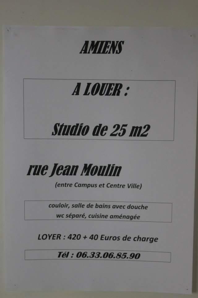 De particulier à particulier , studio, de 20m² à Amiens