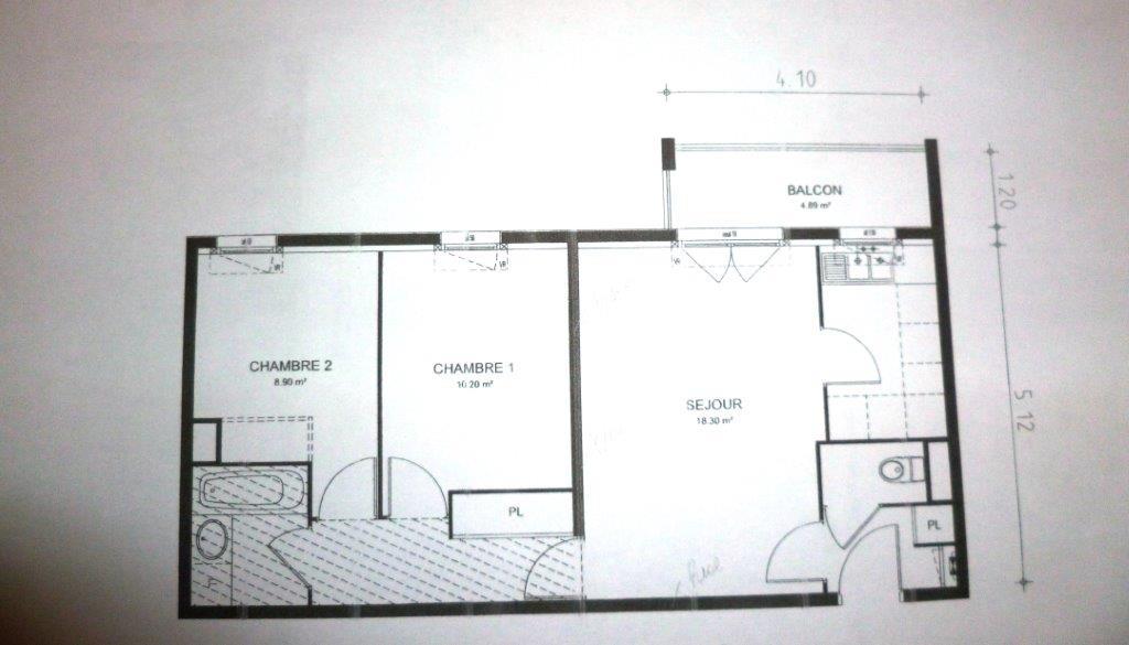 Location immobilière par particulier, Nanteuil-lès-Meaux, type appartement, 55m²