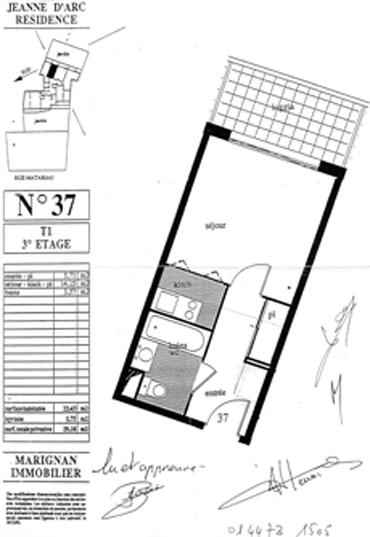location de studio de particulier toulouse 440 23 m. Black Bedroom Furniture Sets. Home Design Ideas