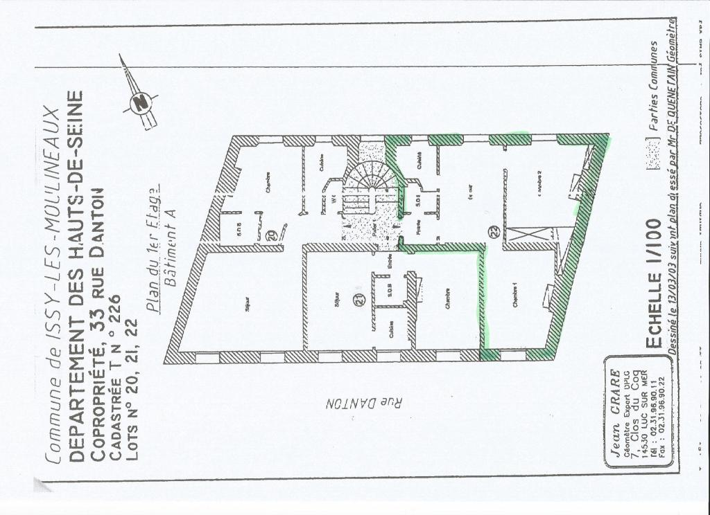 De particulier à particulier Issy-les-Moulineaux, appartement appartement de 45m²