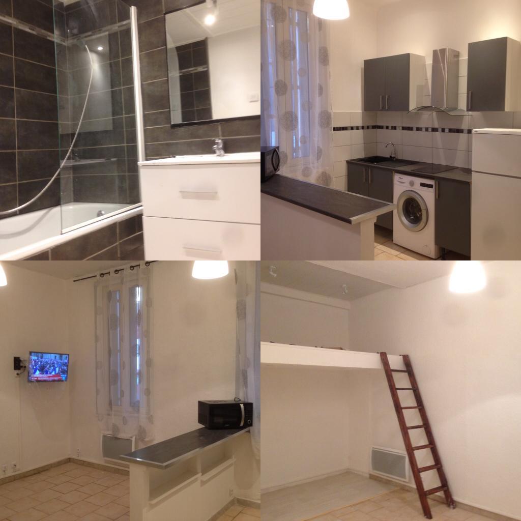 location de studio meubl sans frais d 39 agence marseille 13010 550 28 m. Black Bedroom Furniture Sets. Home Design Ideas
