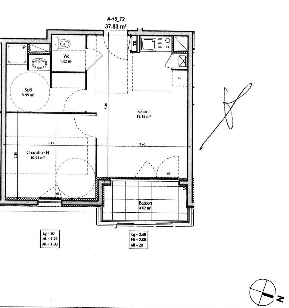 location d 39 appartement t2 de particulier villefranche sur saone 500 38 m. Black Bedroom Furniture Sets. Home Design Ideas