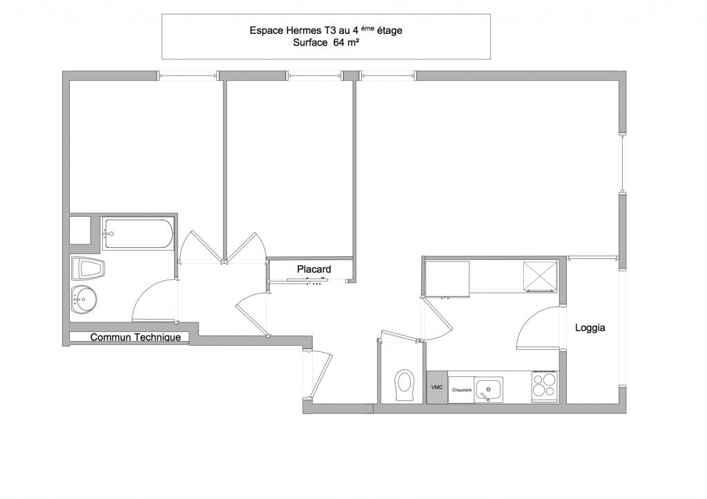 location d 39 appartement t3 de particulier particulier draguignan 705 64 m. Black Bedroom Furniture Sets. Home Design Ideas