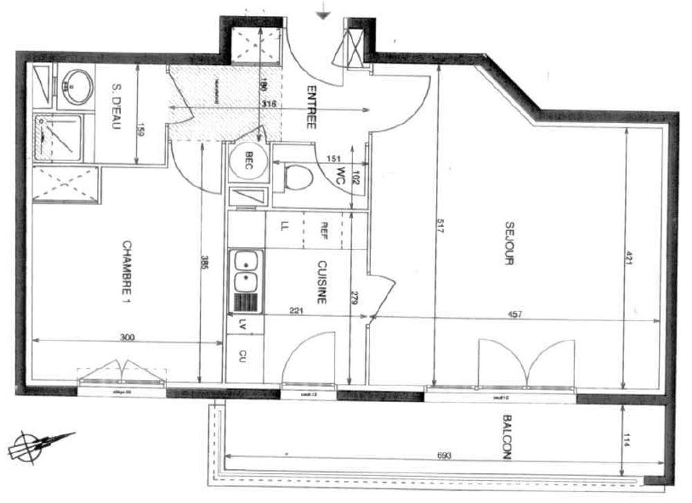 De particulier à particulier, appartement, de 56m² à Nanteuil-lès-Meaux