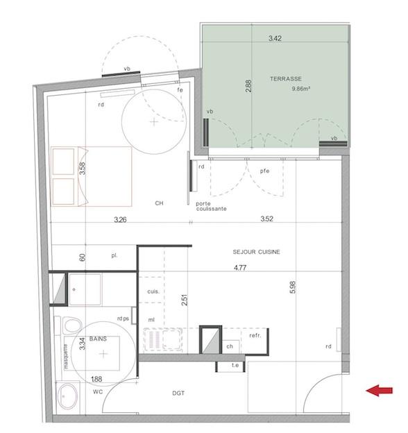 location d 39 appartement t2 de particulier particulier marseille 13004 680 45 m. Black Bedroom Furniture Sets. Home Design Ideas