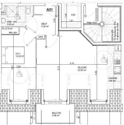 Entre particulier à Bois-d'Arcy, appartement, de 47m² à Bois-d'Arcy