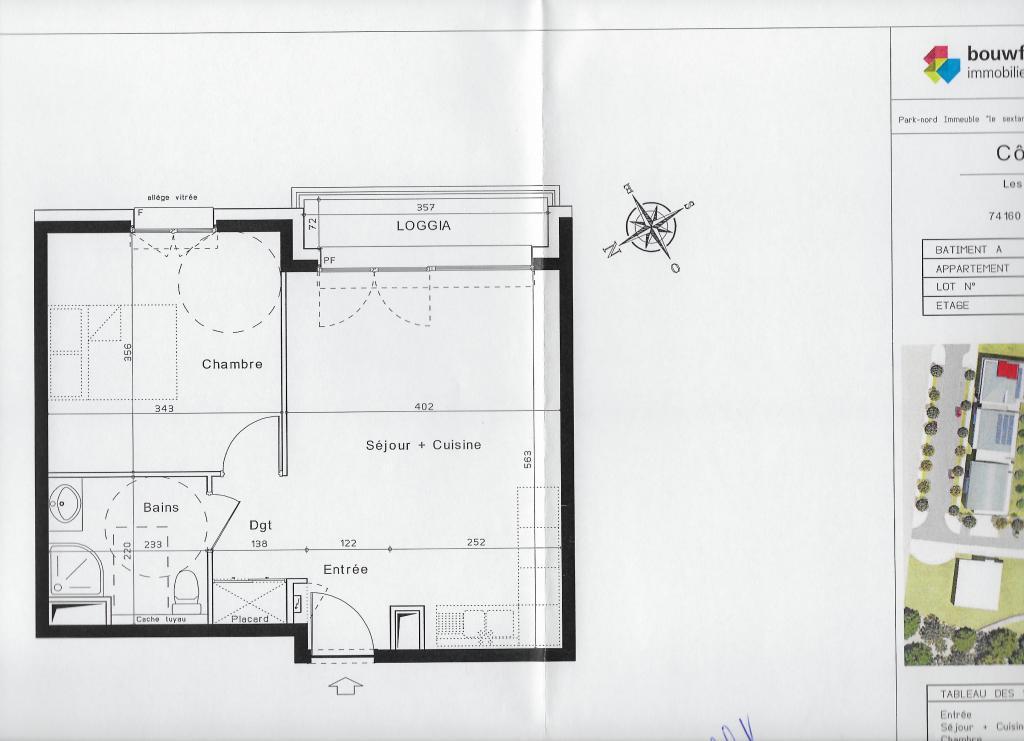 Entre particulier , appartement, de 42m² à Beaumont