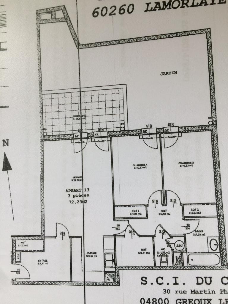 Appartement particulier, appartement, de 72m² à Lamorlaye