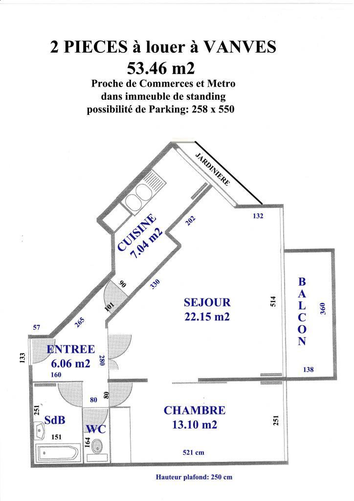 Appartement particulier à Vanves, %type de 53m²