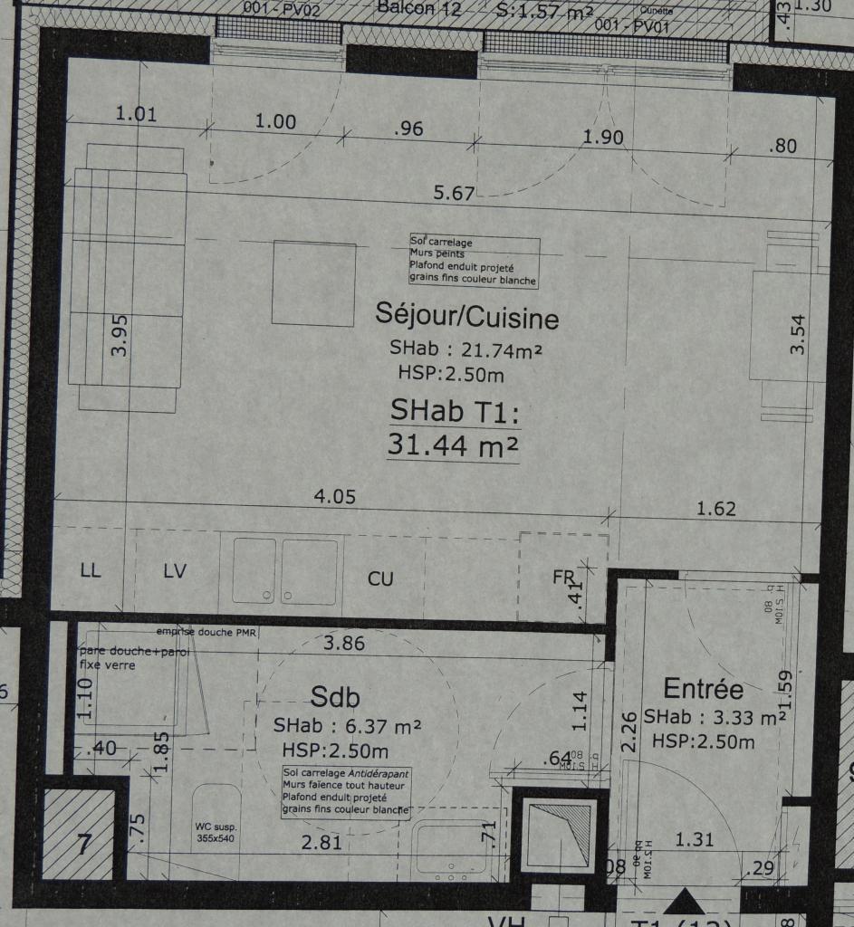 De particulier à particulier Ostwald, appartement studio, 31m²