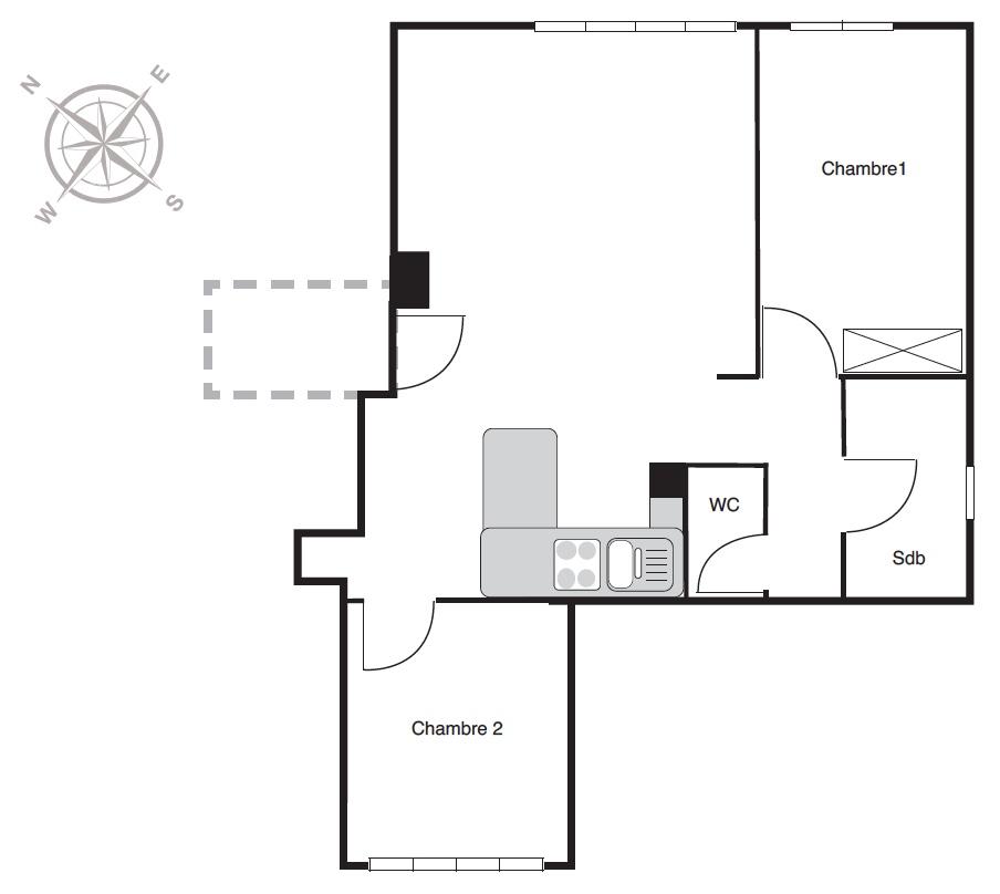 Location particulier à particulier, appartement, de 64m² à Carnetin