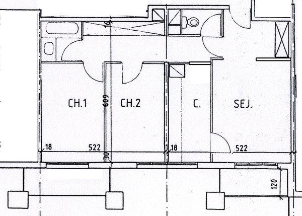 De particulier à particulier, appartement, de 62m² à Montigny-le-Bretonneux