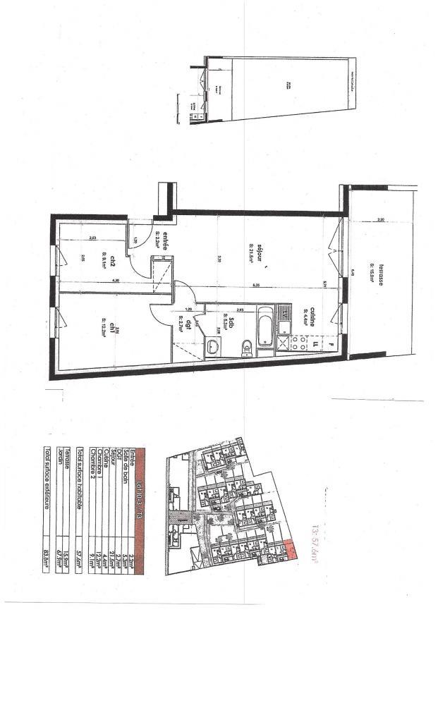 Appartement particulier à Mureaux, %type de 58m²