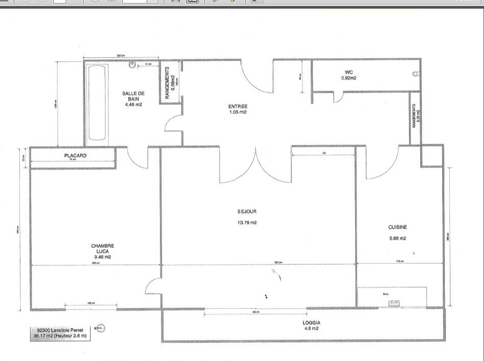 Location de particulier à particulier à Levallois-Perret, appartement appartement de 36m²