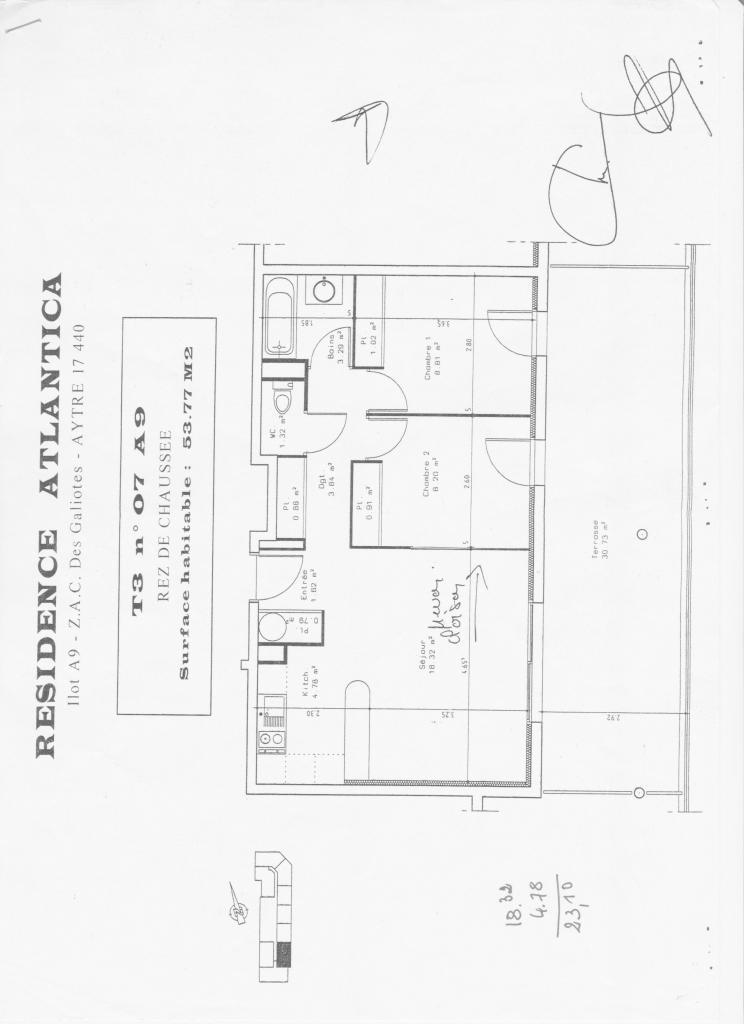 De particulier à particulier Aytré, appartement appartement, 54m²