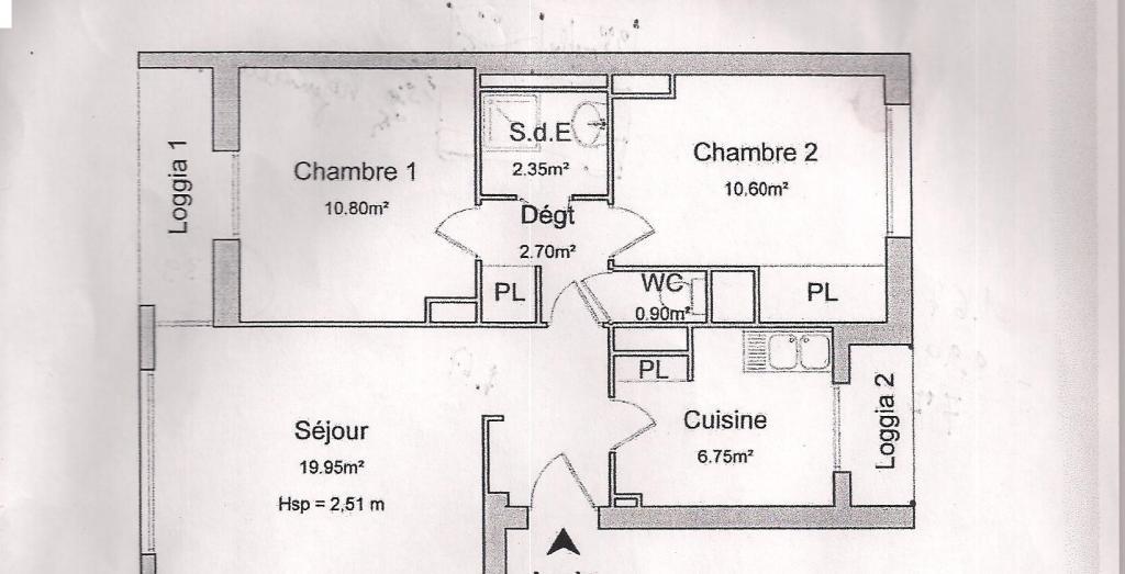 Location appartement entre particulier Marseille 09, appartement de 54m²
