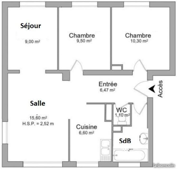Location de particulier à particulier à Champigny-sur-Marne, appartement appartement de 62m²