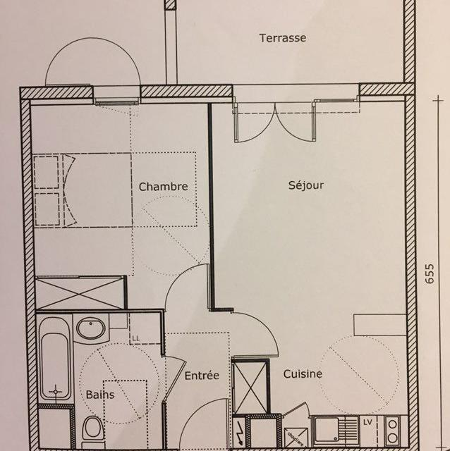 Location appartement par particulier, appartement, de 44m² à Jatxou
