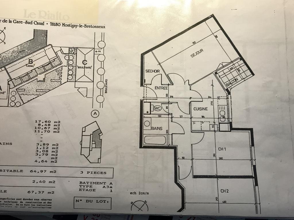 Location de particulier à particulier à Montigny-le-Bretonneux, appartement appartement de 65m²