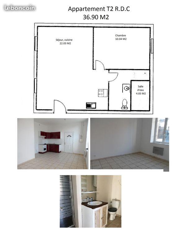Location appartement entre particulier Cauffry, appartement de 37m²