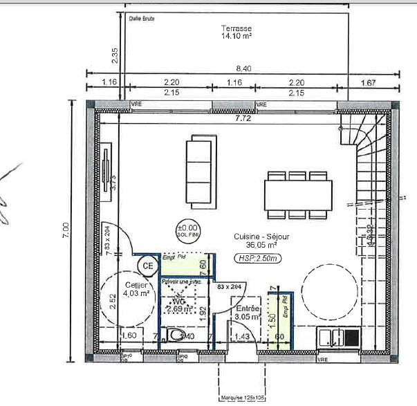 Location appartement entre particulier Virsac, de 90m² pour ce maison