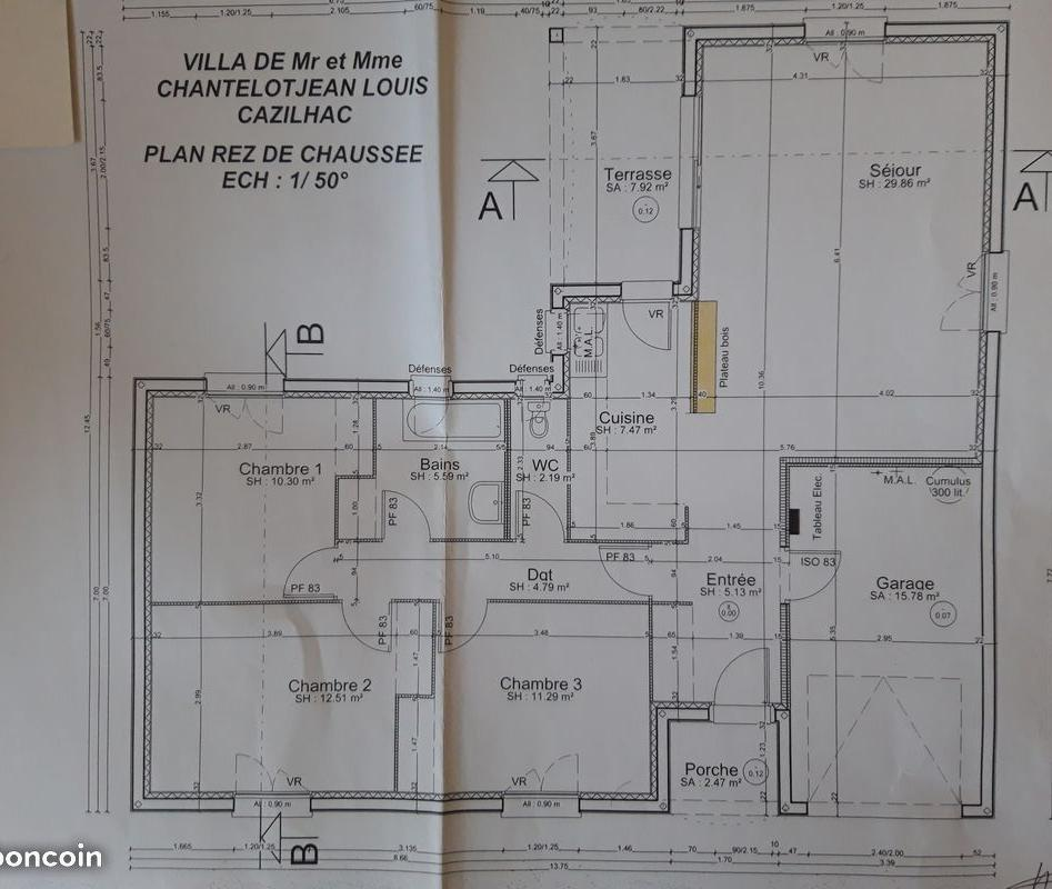 De particulier à particulier , maison, de 89m² à Cavanac