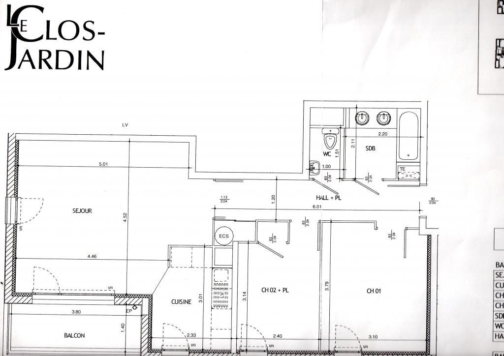 Appartement particulier à Jonage, %type de 65m²