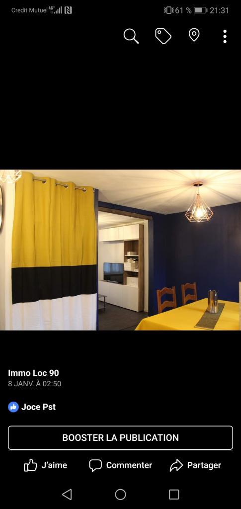 4 chambres disponibles en colocation sur Belfort