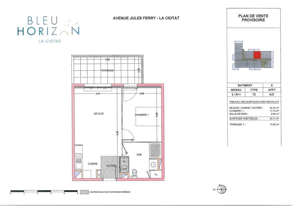 Location de particulier à particulier, appartement, de 42m² à Ceyreste