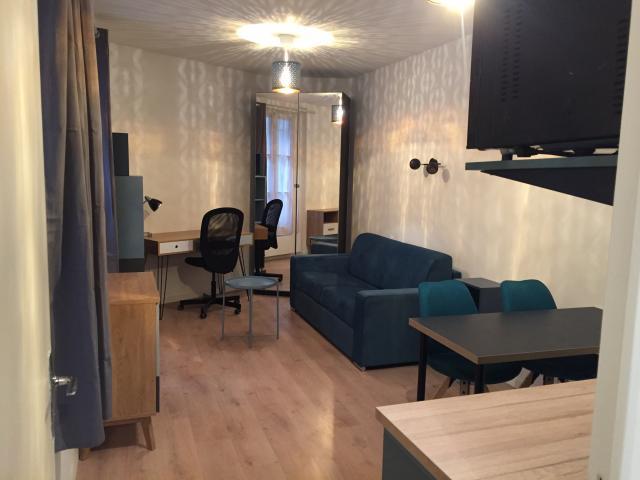 Location Studio Meublé Avec Cuisine équipée à Paris 19 970 22 M²