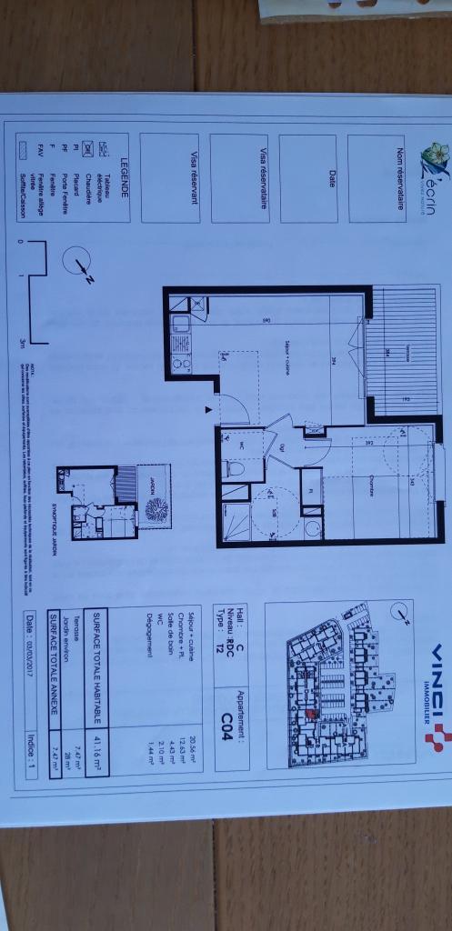 Location appartement par particulier, appartement, de 41m² à Lauzerville